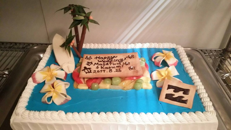 海 ウェディングケーキ